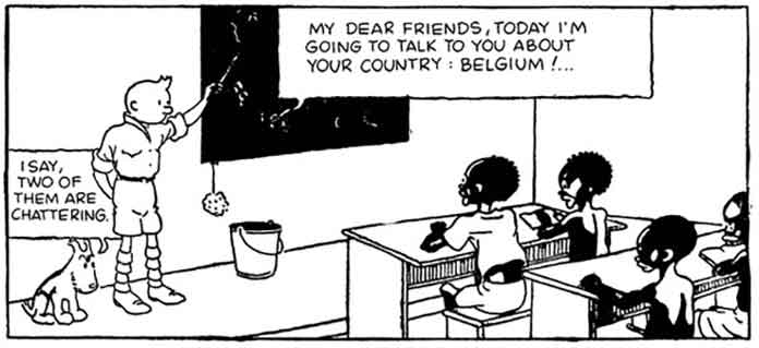 Tintin: My dear friends, today I'm going to talk to you about your country: Belgium