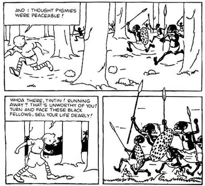 Tintin: And I Thought Pygmies Were Peaceable