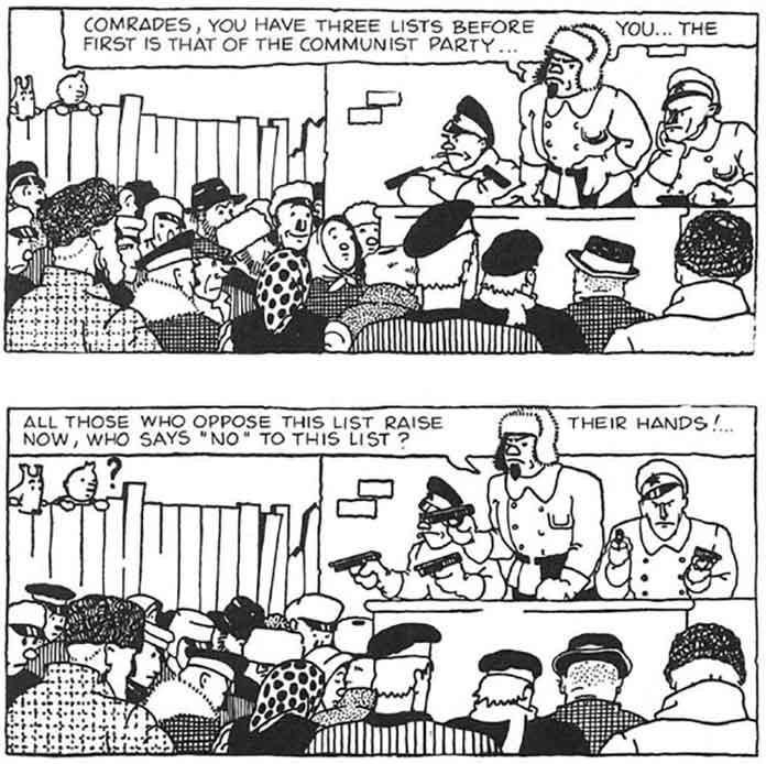 Tintin racist moment - Comrades