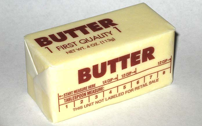 A stick of salted butter