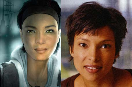 Left: Alyx Vance from Half Life 2 - Right: