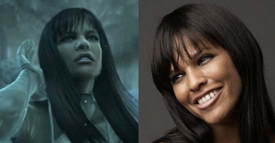 Left: Crying Beauty from Metal Gear Solid 4 - Right: Mieko Rye
