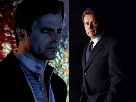 Left: The Illusive Man from Mass Effect 2 - Right: Martin Sheen