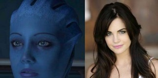 "Left: Liara T'Soni from ""Mass Effect"" - Right: Jillian Murray"