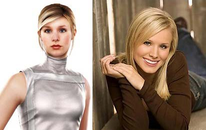 "Left: Lucy Stillman from ""Assassin's Creed"" - Right: Kristen Bell"