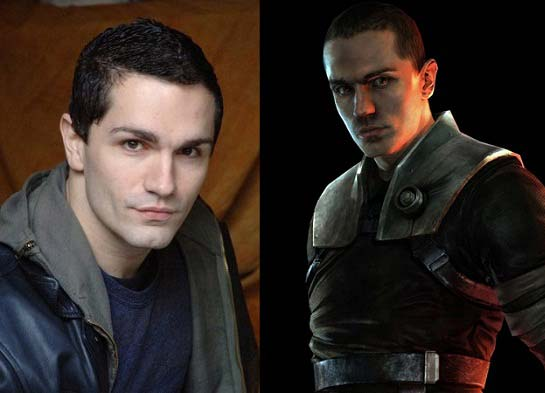"Left: Samuel Witwer - Right: Starkiller from ""The Force Unleashed"""