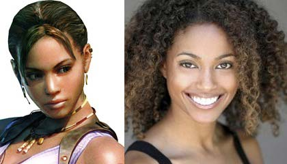 Left: Sheva Alomar from Resident Evil 5 - Right: Karen Dyer