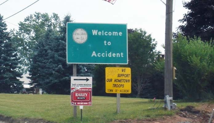 Accident - Town in Maryland